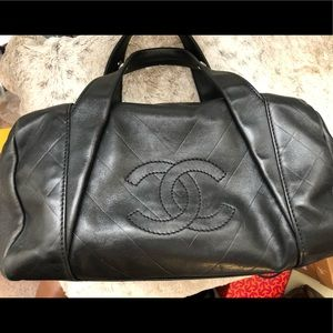 Authentic Chanel Chevron Boston Bag